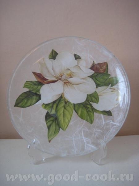 Вот ещё мои новые работы на прозрачных тарелках - 2