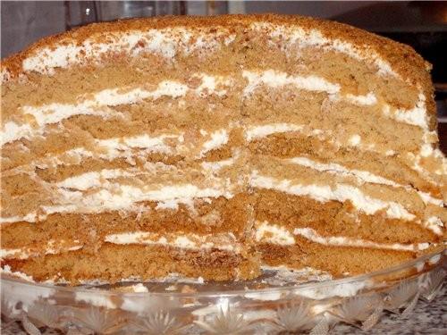 И я свой тортик принесла, польский медовик от - 2