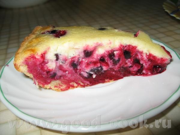 И опять пирог со смородиной: Тесто (остаточек от прежней выпечки надо было в ход пустить) от Нигули... - 2