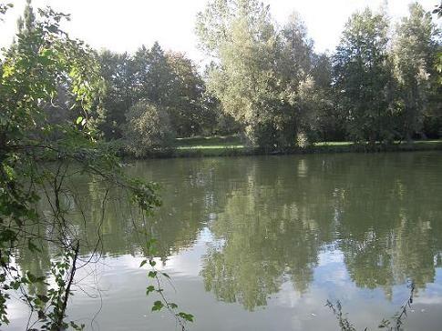 У реки, недалеко от нашего дома