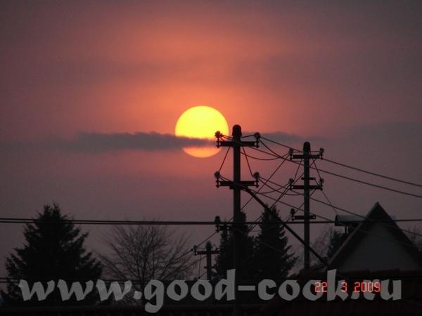 вот нашла вид на нашудеревню а это небо под которым мы живём наше заходящее солнышко, наше потому ч... - 5