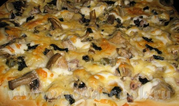 Оля, спасибо за идею пицы с грибами