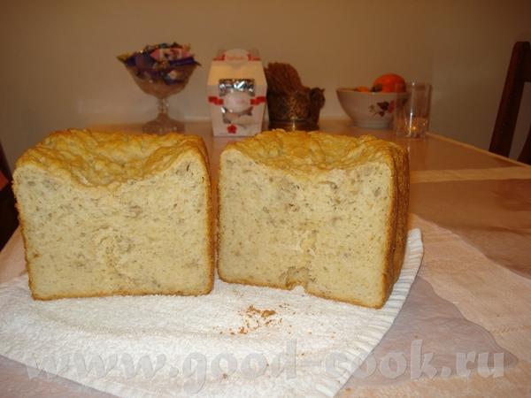 Девочки, а я пекла хлеб с овсянными хлопьями, рецепт которого в инструкции к ХП