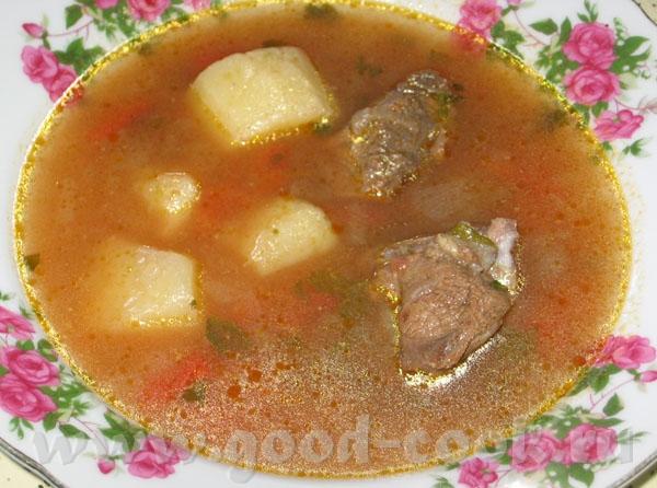 Кавирма шурпа (Суп из баранины с поджаркой) баранина - 500 гр картофель - 500 гр 200 гр помидоров и... - 2