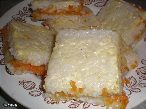 Рисовая запеканка - Рис 1 ст