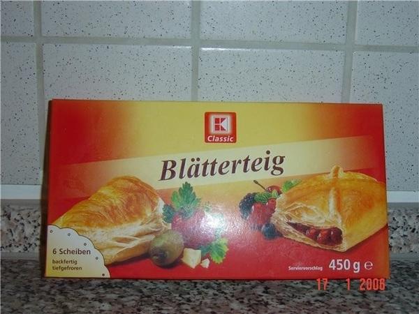 я всегда покупаю для выпечки вот этот Blдtterteig aus Kaufland oder Handelshof