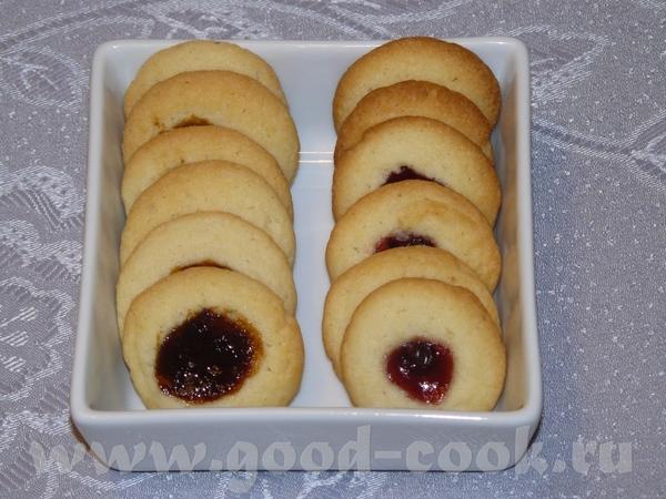 Мне очень понравилось, как я делала, через кулёк, печенье печётся очень быстро и варенье не успевае...