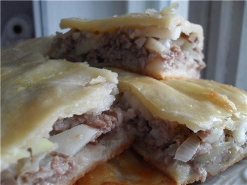 Пирог с мясом и картофелем - 2