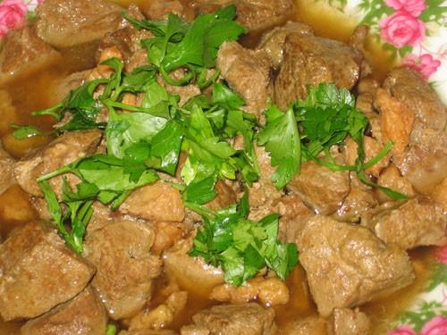 Думба джигар (Печенка с курдючным салом) - 2