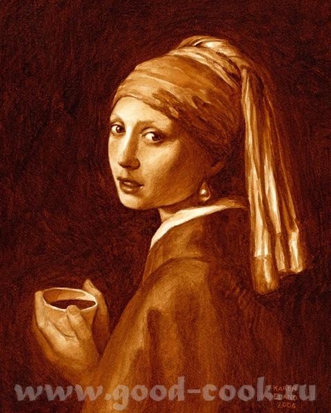 Американская художница Карен Эланд (Karen Eland) рисует копии знаменитых шедевров мировой живописи,...