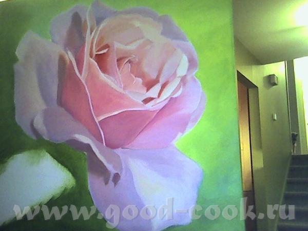 Показываю мои розы, рисую триптих