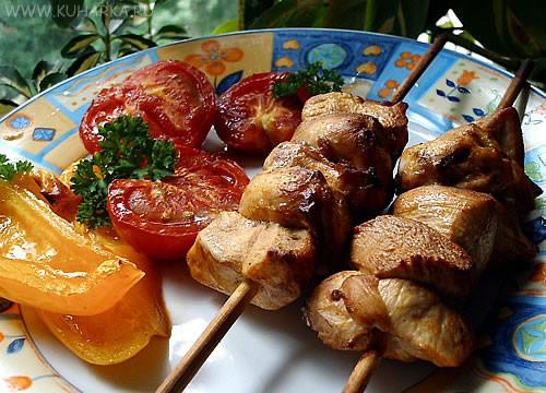 Олечка, спасибо за фарфалле с соусом из лосося и вот еще фото куриных шашлычков с овощами, которые... - 2