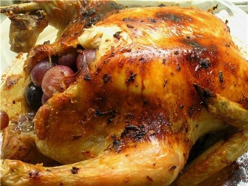 Куриные окорочка с сыром в слоеном тесте Курица с виноградом - 2