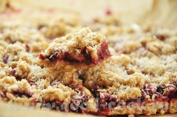 """Блюда от Alina: """"Овсяное печенье с малиновым джемом"""" печенье очень вкусное, но шибко сладкое- я бы..."""