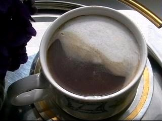 Вот приготовила кофе с мороженным