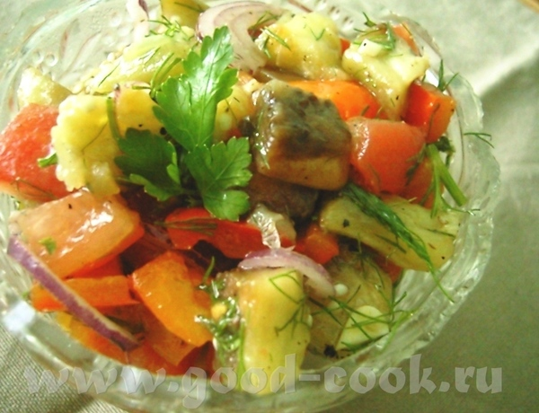 Салат из баклажанов по-болгарски