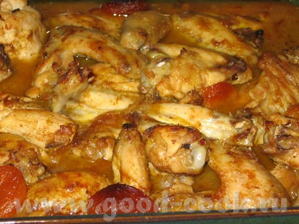 Курица тушенная в морковном соке с финиками - 2