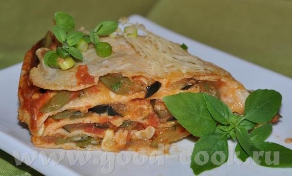 Блинчатый пирог с овощной начинкой