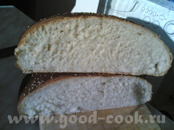 Йогуртово-молочный пшеничный хлеб с кунжутом и кардамоном на спелом тесте - 2