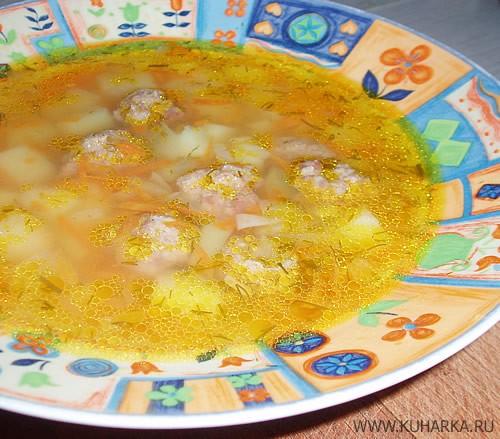 """А у нас сегодня был суп с фрикадельками и салат """"Лесной"""" от Лайлы"""