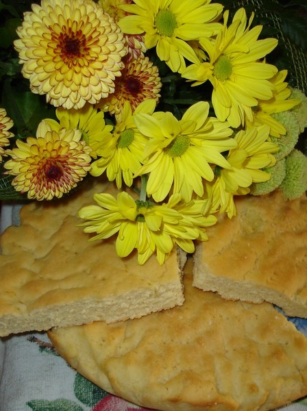 Кукурузная лепёшка Из обычной и кукурузной муки (1