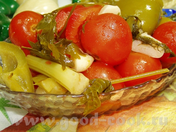 Салат из баклажан Аджика сборная Маринованные помидоры с перцем - 3