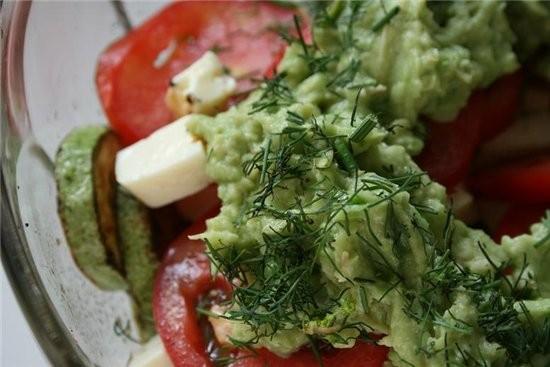 салат из кабачков с сыром фета