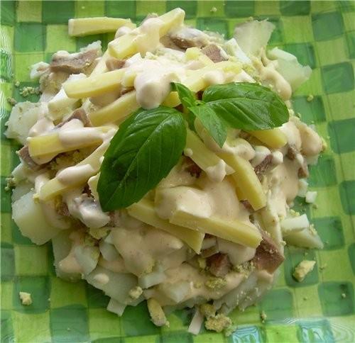 Салат Пасхальный с Языком из телятины Салат« Этаж» из садовых овощей Чилийский салатик