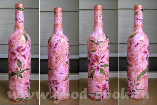 Главное что дошло Новая бутылочка с лилиями (именно такая по заказу) И пепельница (обратный декупаж...