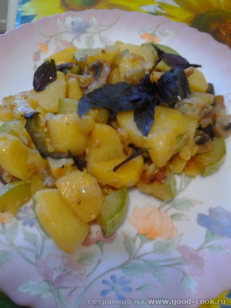 картофель с кабачком