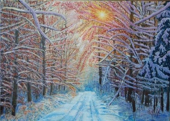 ПРОШУ ПРОЩЕНИЯ ЧТО С ОПОЗДАНИЕМ, ВАМ ПОКАЗЫВАЮ РАБОТЫ ЗИМНИЙ ВЕРНИСАЖ Зима – это сказочное время го...