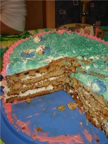 привет девочки выставляю свой простенький торт который пекла на семейный ужин и в разрезе - 2