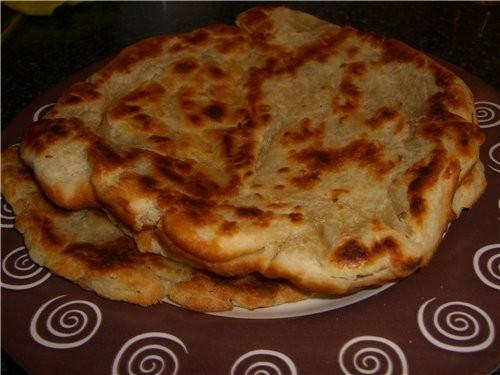 Лепёшка азербайджанская Кефир-стакан пол пачки маргарина соль 1/4 ч