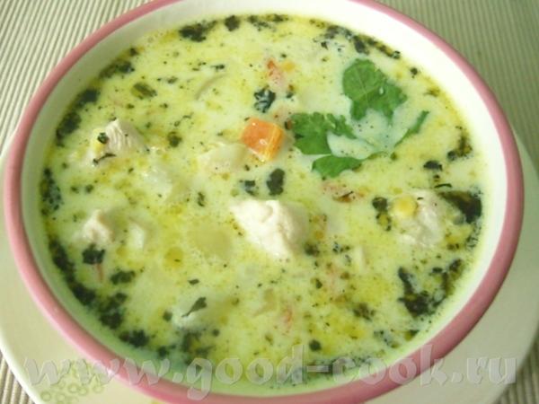 Сливочный суп с курицей в итальянском стиле Это рецепт от TRIO AALENA
