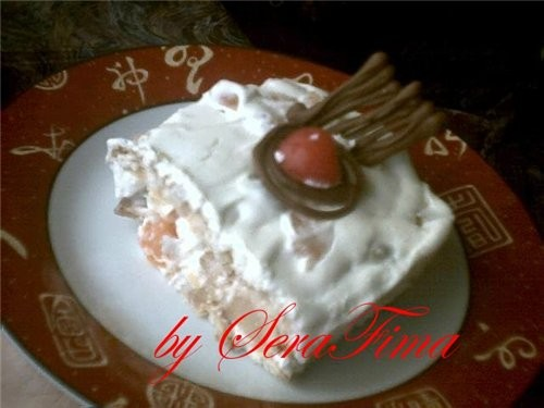 Вот ешё делала тортик Вот целиком а вот кусочек Девульки - 2