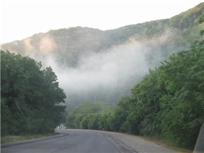 Вот такое облако в горах провожало нас на обратном пути…