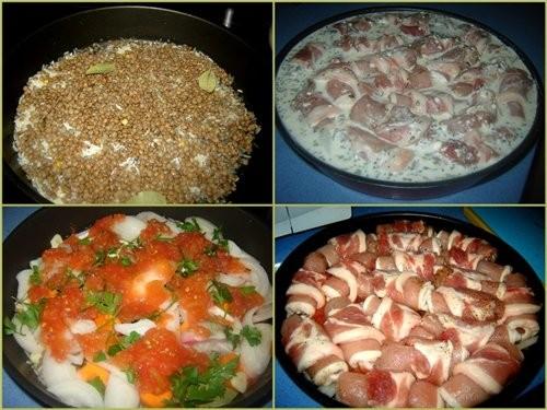 Баскская кухня Rollitas de lomo de cerdo asadas con nata Свиные рулетики запеченые в сливках Продук... - 6