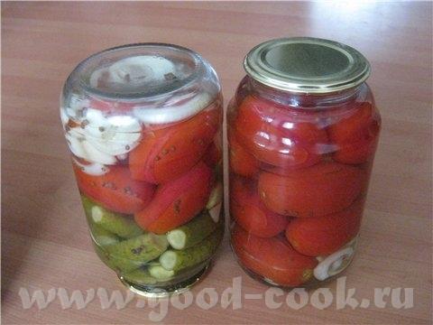 Пряные помидоры от Galadriel Вода - 1300мл соль - 2 стл сахар - 100 гр уксус 9% - 100 гр На дно бан...