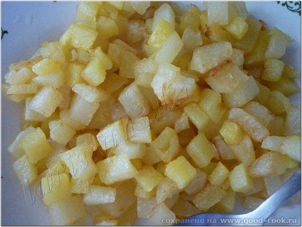 """Салат """"Владычица морская"""" Понадобится: 200г корня сельдерея 200г картофеля 200г моркови 1 зелёное кислое яблоко 1 луко... - 4"""