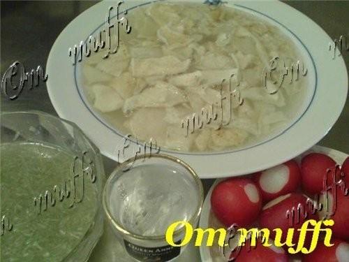 КУРИНЫЙ БУЛЬОН С ЛАПШОЙ ХАШ (Армянское блюдо) СУП РИСОВЫЙ С КУРИЦЕЙ - 3