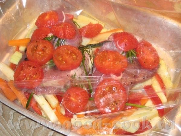 Баранина, запечённая в рукаве на овощной подушке Нам понадобиться: баранина (у меня тазобедренная ч... - 6