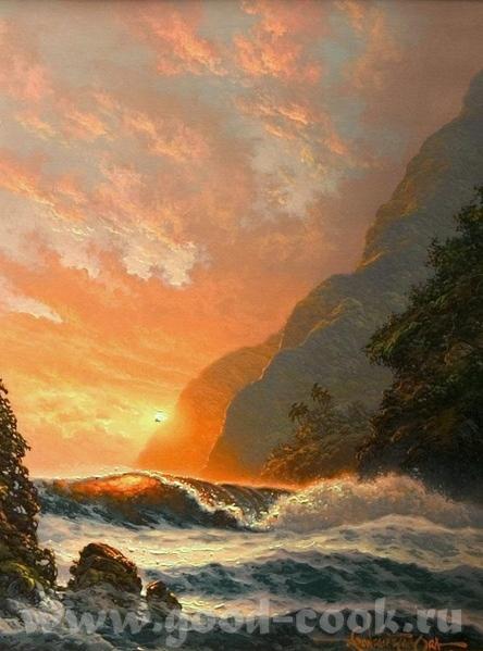 Вот так море рисует xудожник Walfrido Garcia A вот так xудожница Roy Tabora Mоре у Toucan Art - 2