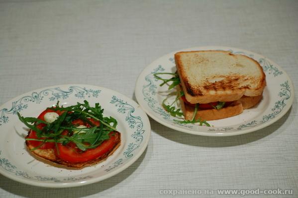 Легкие и вкусные бутерброды в итальянском стиле, на манер брускетты с помидорами - 2