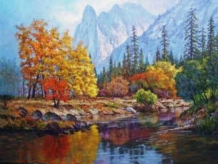 """Krystyna Jasinska Верхола Алёна- """"Рисую"""" картины природными материалами - листьями, цветами, корой... - 6"""