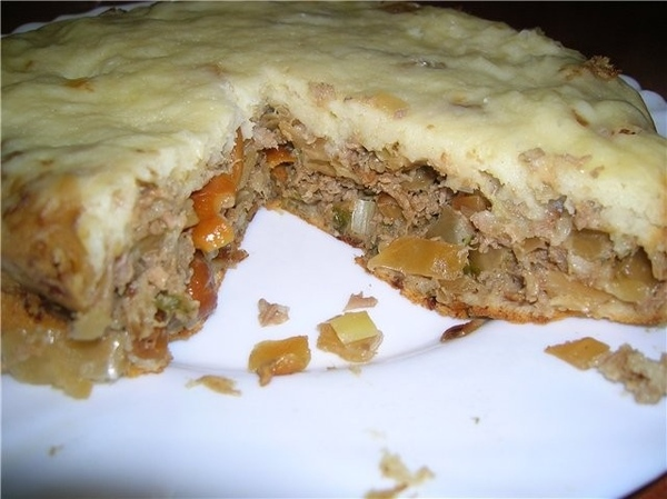 """Пирог """"капуста+мясо+"""