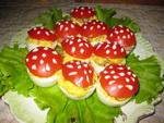 Овощные Баклажанные рулетики с сыром и перцем Закуска из цуккини с томатами в чесночно-уксусном соу...