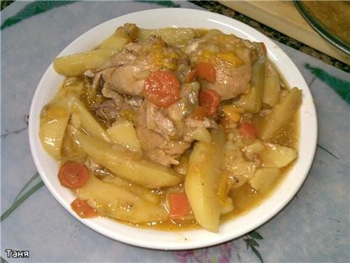 Мясо курицы с овощами в пикантном соусе Румяная курочка Курочка с картошкой Куриные грудка и печень... - 3