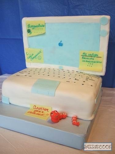 Принесла вам для идей мой торт компьютер, пошаговые выложила ТУТ