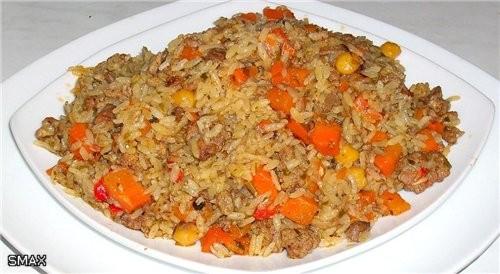 Плов «Фьюжн» Состав: рис «Иберика» 0,5кг; масло растительное 0,15л; бараний жир 0,1-0,07кг; фарш го... - 8