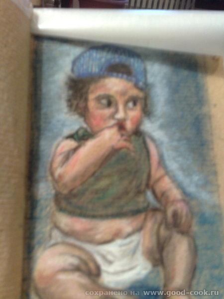 Это моя племяшка, только родилась, десять дней отроду, рисовала по памяти - 2